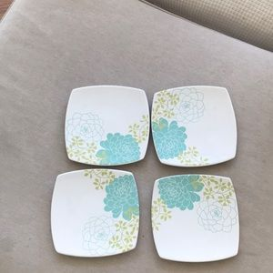 """222 Fifth Set of 4 Small Blooming Hill Plates <6"""""""